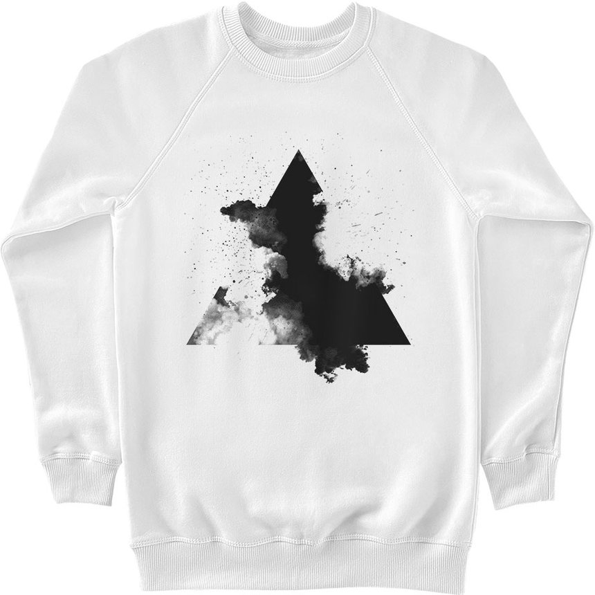 "Sweatshirt ""Smoke Triangle"", White, XS, White"
