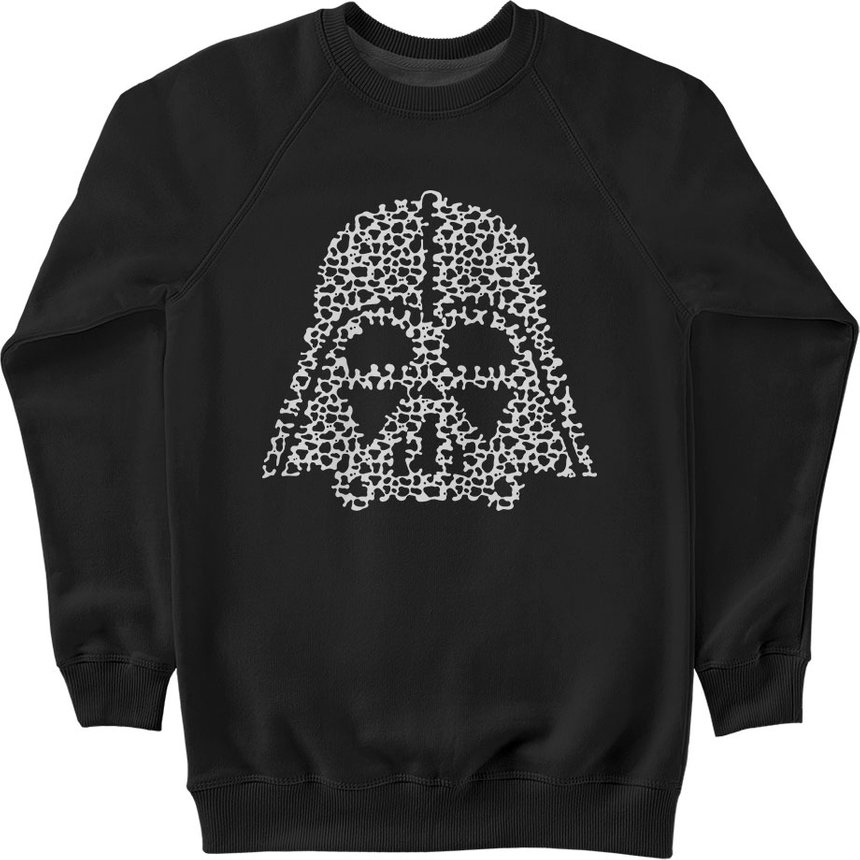 "Sweatshirt ""Dark Lord Cow Skin"", Black, M, Black"