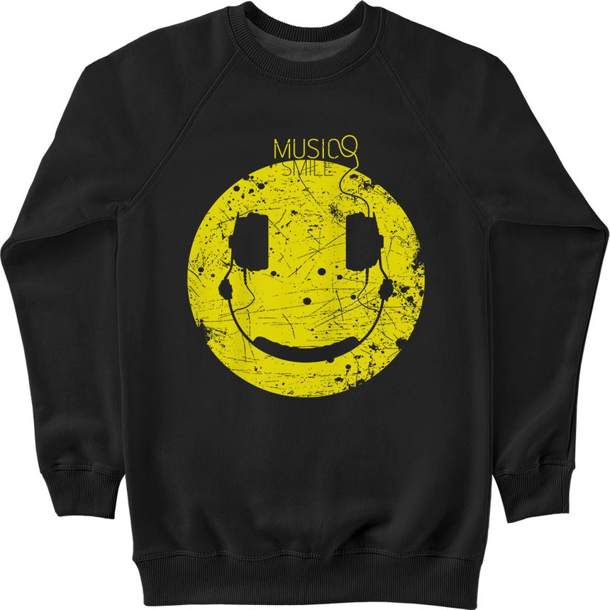 "Sweatshirt ""Music Smile"", Black, XS, Black"