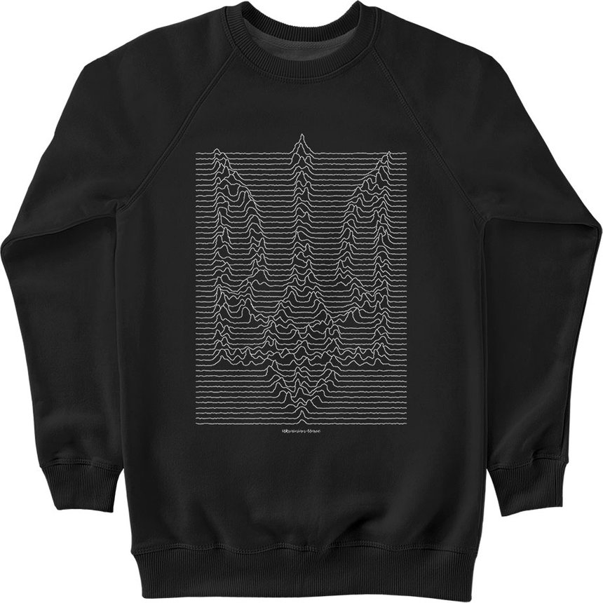 "Sweatshirt ""Ukrainian Wave"", Black, M, Black"