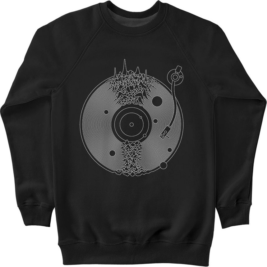 "Sweatshirt ""Space Music"", Black, M, Black"